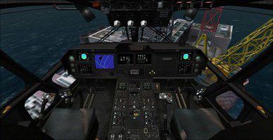 agusta westland eh101, cockpit overview camera view