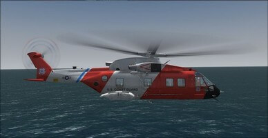 agusta westland eh101, right side camera view