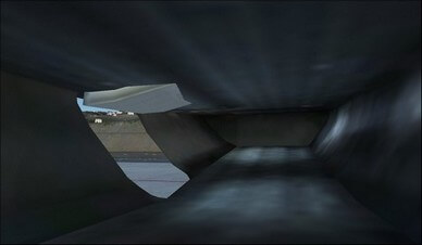 boeing 737-800 rear cargo hold camera view