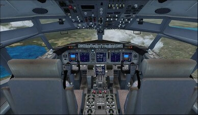 boeing 737-800 cockpit overview camera view
