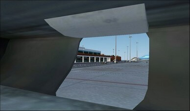 boeing 737-800 front cargo hold camera view