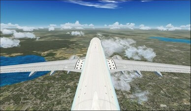 boeing 737-800 tail camera view