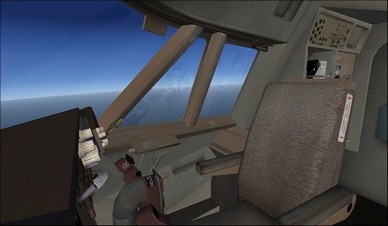 boeing 747-400 co-pilot camera view
