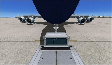 boeing 747-400 front landing gear camera view