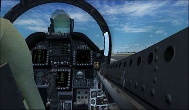 Boeing F/A-18 Hornet Behind Seat Right Camera View
