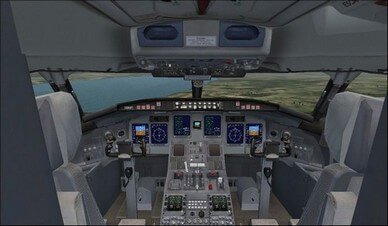 Bombardier CRJ 700 Cockpit Overview Camera View