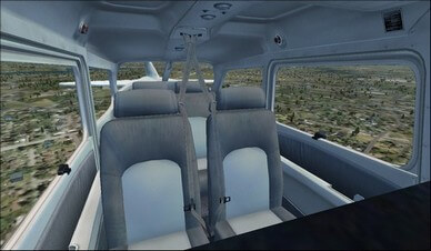 Cessna C172SP Cabin Overview Camera View