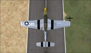 Wings of Power P-51D Top Camera View
